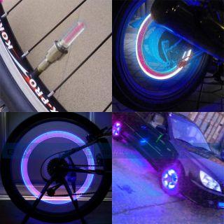 Bike Cycling Motorcycle Car Valve Cap Tire Tyre Spoke Wheel Rim LED
