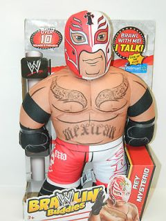 WWE Brawlin Buddies Rey Mysterio Plush Figure NEW HOT TOY WRESTLING