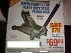 Rapid Pump 3 Ton Heavy Duty Steel Floor Jack