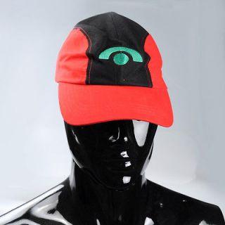 COOL Pokemon Satoshi Ash Ketchum Baseball Cap Hat Cosplay