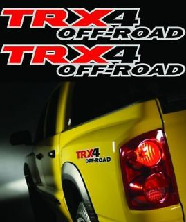 TRX4 OFFROAD TRUCK 4x4 DECALS STICKER DECAL DAKOTA SIZE 2.5x15