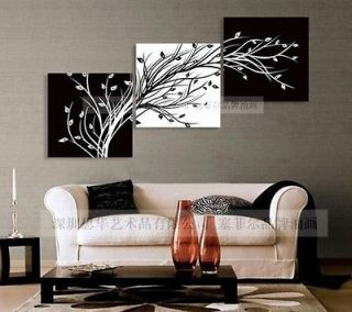 Abstract Huge Art Oil Painting On Canvasblack white TREE(No Framed