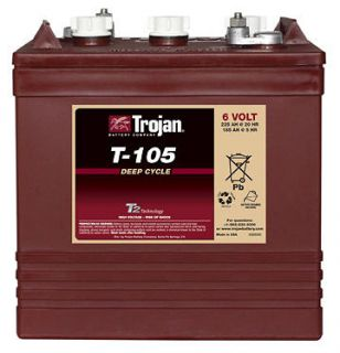 Lot of 6 Trojan T 105 Golf Cart Batteries with Free Truck Shipping