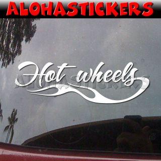 HOT WHEELS FLAME Racing Race Car Truck Laptop Vinyl Decal Window