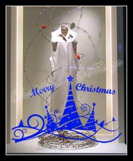 Christmas Tree 5 Ribbon Shopwindow Show Window Wall Art Decoration