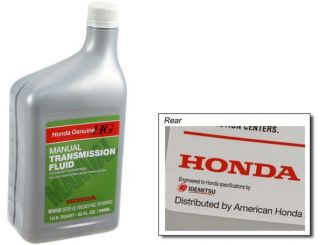 GENUINE HONDA MTF MANUAL TRANSMISSION FLUID FITS MOST ACURA HONDA
