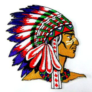 1pcs Indian Native American Tribe Chief 4 Iron On Patch Embroidered