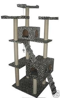 New Leopard Skin 73 Cat Tree Condo Furniture Scratch Post Pet House