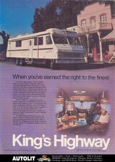 1976 Kings Highway RV Motorhome Ad Dodge Xplorer 212