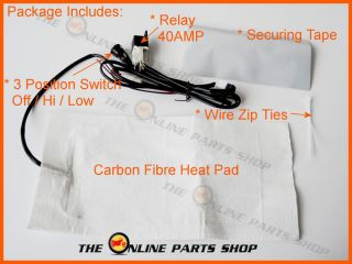 Seat Heater Complete Kit Ideal For Harley Davidson Chopper Trike Bike