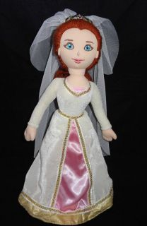 Bride FIONA Shrek 2 Third Plush Doll White Wedding Dress EXCELLENT