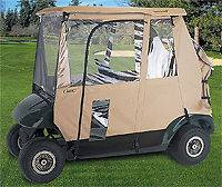 Deluxe 3 Sided Golf Cart Enclosure fits two person golf cars EZ Go