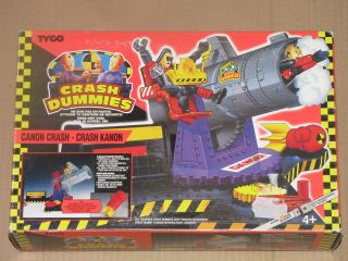 Tyco CRASH TEST DUMMIES 90s JUNKYARD CANON Action Figure/Playset MISB