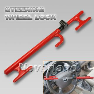 Universal Car/Truck Anti Theft Steering Wheel Security Lock Device Red