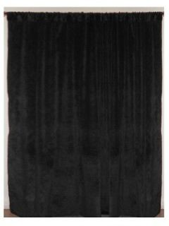 96 W X 96 H Black Velvet Panel Curtain Backdrop Drape Stage Hotel
