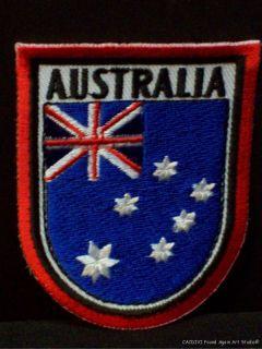 Vtg Australia Flag Union Jack Embroidered Patch Souvenir Travel Badge