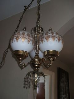 gold glass swag light lamp ceiling fixture chandelier from canada