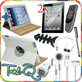 10 in 1 Protector Cover Case Car Charger Accessory Bundle Kit For iPad