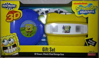 NIB SPONGEBOB SQUAREPANTS VIEW MASTER 3D TOY GIFT SET NICKELODEON