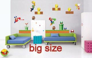 Newly listed HUGE VINYL wall stickers super mario game kids room decal