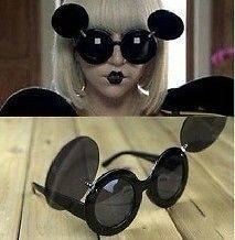Lady Mickey Mouse Flip Paparazzi Sunglasses Gaga Shades