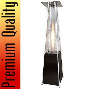 Black Pyramid Outdoor Patio Heater Propane LP Gas Home Commercial