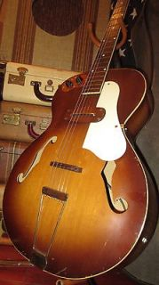 Vintage Early Original 1940s Kay Archtop Electric Guitar w Pickup