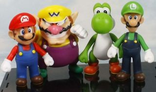 super mario bros yoshi wario mario luigi 5 figure toy lot 4