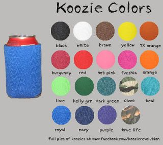 50 Custom Personalized Koozies Coolies Great Party Wedding Favors