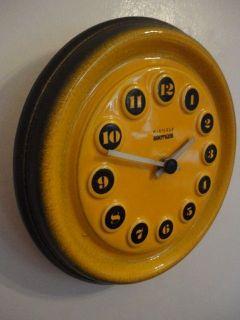 Kienzle Boutique 70s German Art Pottery Wall Clock