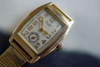 Waltham Art Deco 21 jewels sub second vintage mens wristwatch