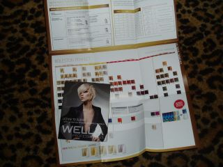 WELLA license to blonde SWATCH HAIR COLOR paper CHART sheet
