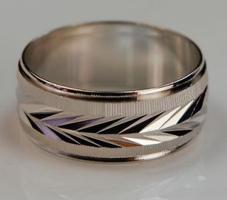 mens white gold wedding rings in Engagement & Wedding