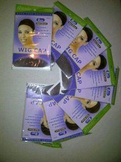 Annie Dark Brown Wig Stocking Cap   Lot of 8 packs   2 Pcs per pack 16