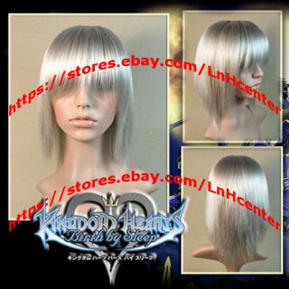 Kingdom Hearts II Riku Silver Cosplay Wig Custom Styled