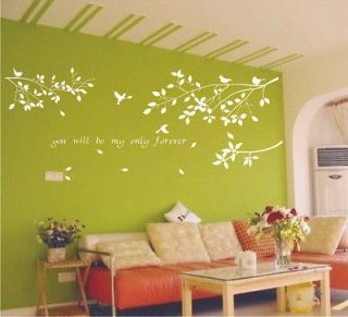 Decal Sticker Removable tree branches birds dc0305 large size 1 color