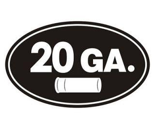 20 Gauge Oval Ammo Can GA Shell Slug Shotgun Car Vinyl Sticker Decal