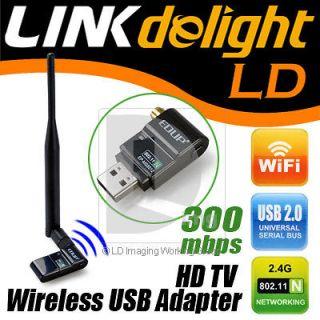 HD TV Wireless Network IEEE 802.11n/g/b Wifi USB LAN Adapter Antenna