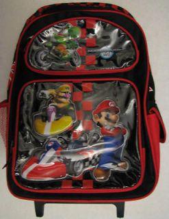 New 2012 Nintendo MARIOKART Wii Rolling Backpack Roll Pack Wario Yoshi