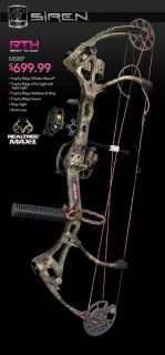 Siren RTH Right Hand Compound Bow 50lb 22 to 27 Draw 275R Womens