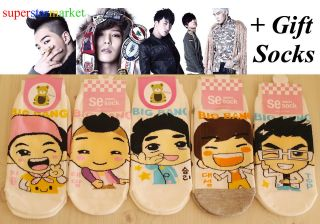 POP Group Big Bang,women Low ankle socks 5 pairs + free gift