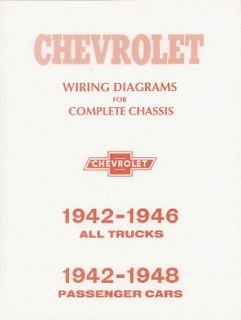 1942, 1946, 1947 & 1948 Chevy Car & 42 46 Pick Up Truck Wiring Diagram