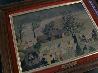 EARLY AMERICANA   GRANDMA MOSES   TURNER   FRAMED   15 1/2 X 11 1/2