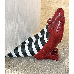 The Wizard of Oz Red Ruby Slippers Doorstop   Wicked Witch Collectible