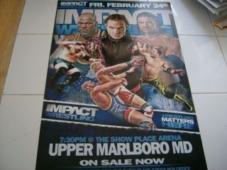 Impact Wrestling Poster and Ticket From 2/24/12   Jeff Hardy   Kurt