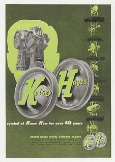 1950 Kelsey Hayes Wheels Symbol of Know How Ad