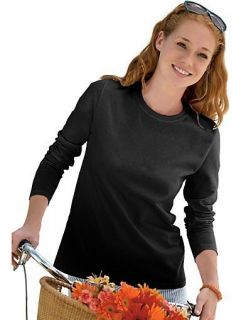 Hanes Womens Long Sleeve T Shirt   style 5580