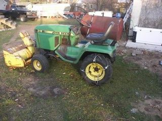JOHN DEERE 316 WITH SNOW BLOWER RUNS GREAT HAS 46INCH MOWER DECK ALSO