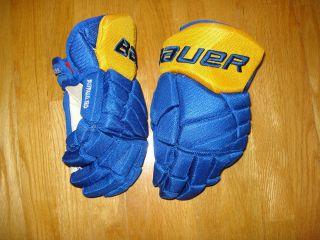 stock return Bauer Vapor X60 Buffalo Sabres Third hockey 14 gloves