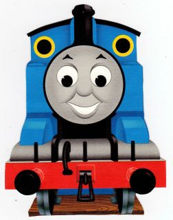 LARGE THOMAS THE TRAIN WALL STICKER GLOSSY BORDER CHARACTER CUT OUT